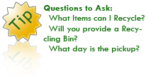 The Recycling Center - Recycling Tip 1